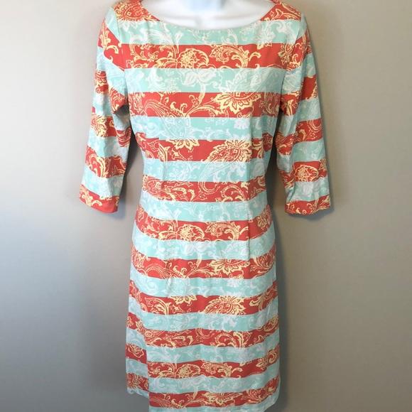 J. McLaughlin Sheath Dress Large EUC